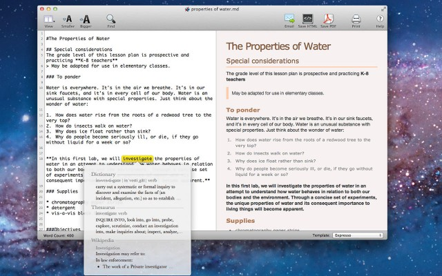 Markdown Notes App with Outline