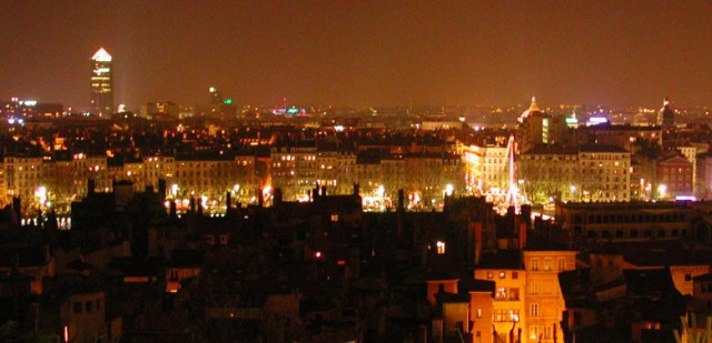 French cities at night